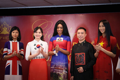 Ao dai featuring national flags of 42 countries to be shown at Cannes Film Festival
