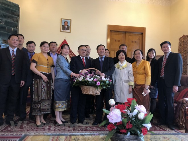 Vietnamese Embassy in Russia congratulates Laos on traditional Lunar New Year