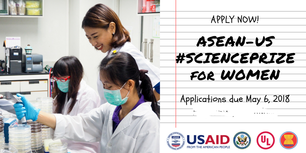 2018 ASEAN - US science prize for women opens for application
