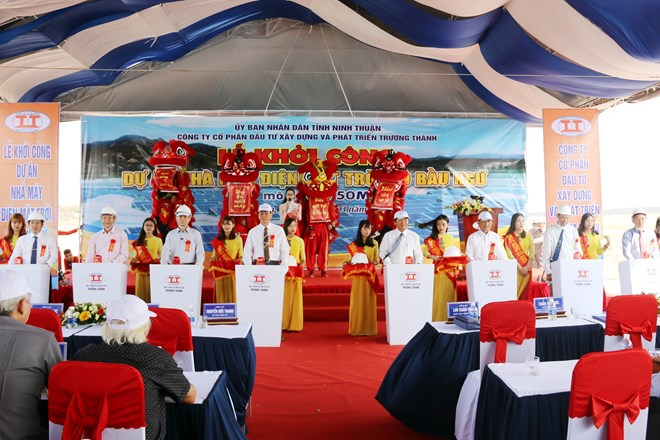 Work starts on second solar power plant in Ninh Thuan