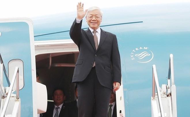 Party chief concludes France, Cuba visits