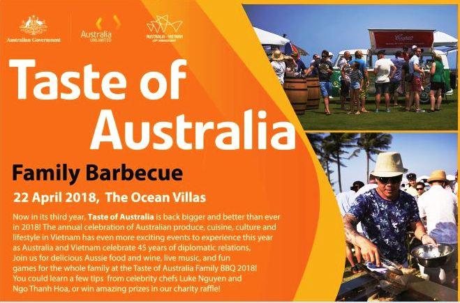 Celebrating Taste of Australia Da Nang Family BBQ