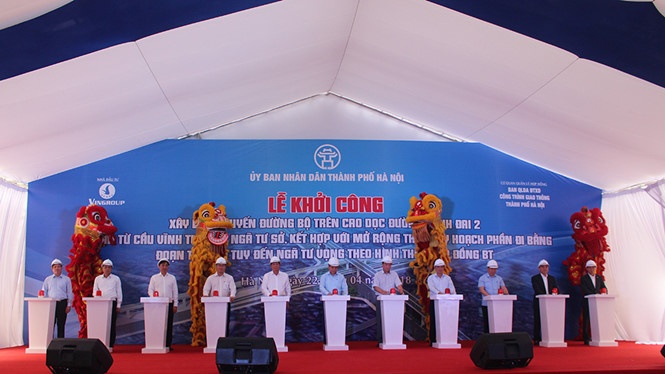 Work starts on VND9.5 trillion flyover in Hanoi