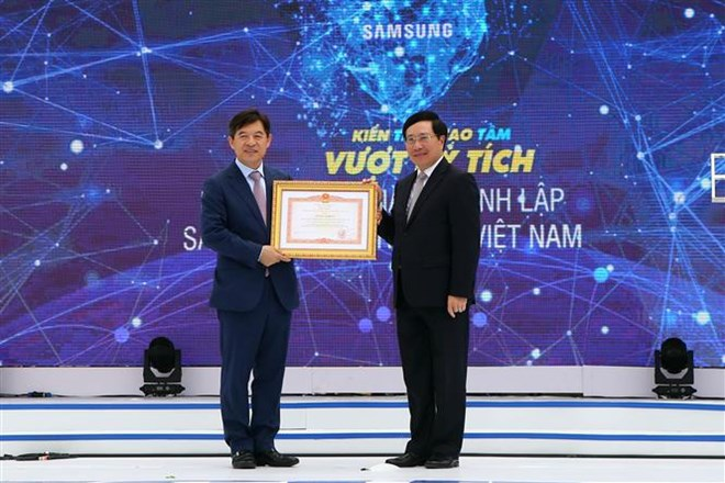 Samsung Electronics Vietnam's 10th anniversary marked