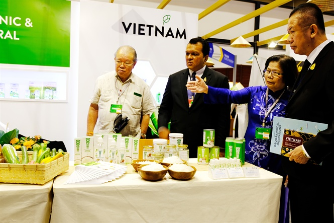 Vietnamese organic products exhibited at Thailand