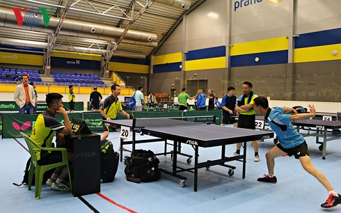 Table tennis tournament for Vietnamese people in Europe 2018 held in Czech Republic