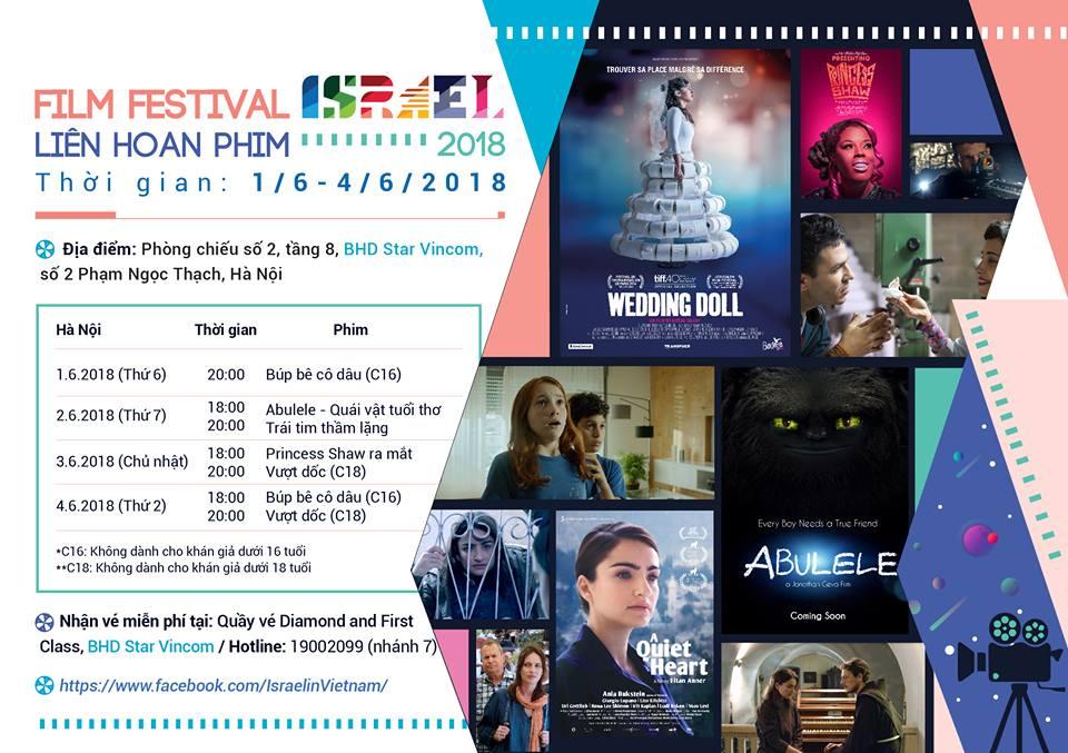 Israel Film Festival 2018 in Hanoi