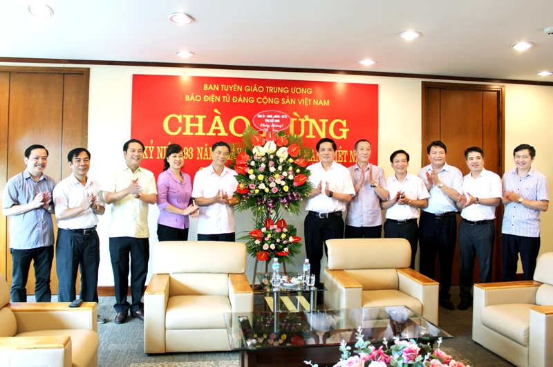 Leaders of Bac Ninh province congratulate Communist Party of Vietnam Online Newspaper