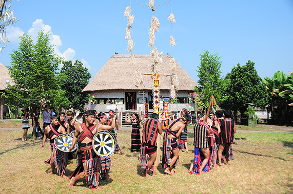 Activities at Vietnam National Village for Ethnic Culture and Tourism in June