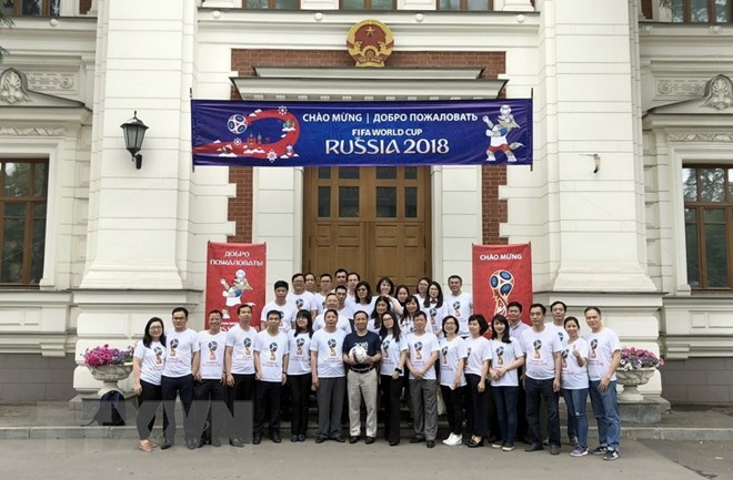Vietnamese Embassy in Russia passionate with World Cup 2018