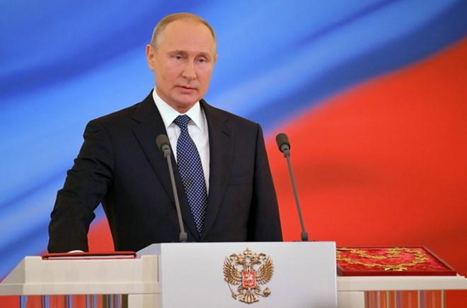 Russian President Vladimir Putin visits Austria