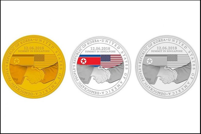 "Singapore unveils ""World Peace"" medallion to mark US –DPRK summit"