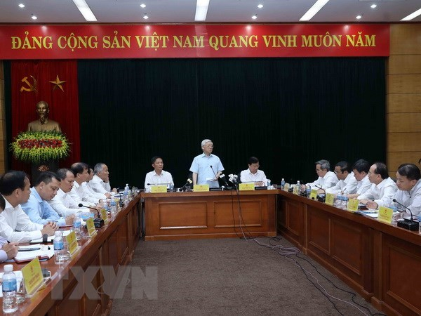 Party chief hails industry-trade sector as economic spearhead