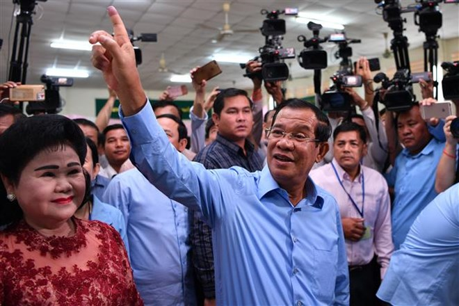 Ruling CPP wins majority of votes in Cambodia's general election