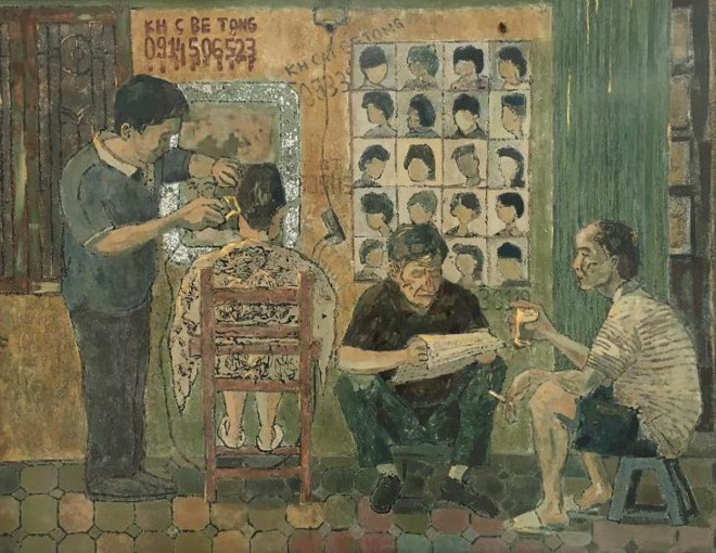 Paintings by Romanian artist on display in Hanoi