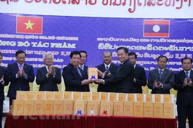 More volumes of Ho Chi Minh Complete Works in Lao published