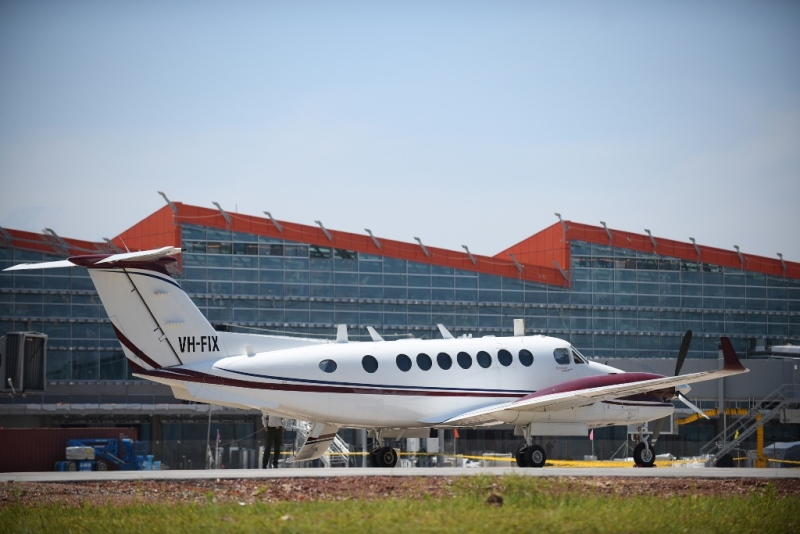 Van Don International Airport receives first flight