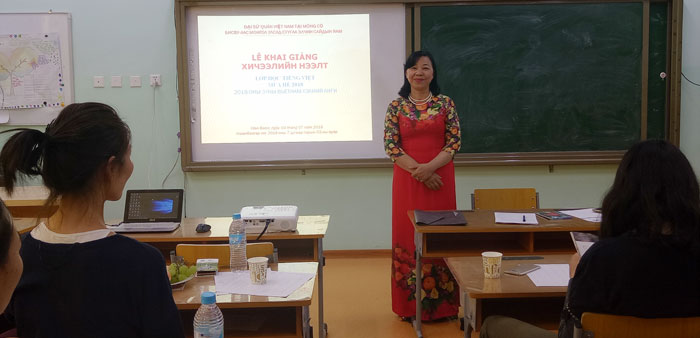 First Vietnamese class opened in Mongolia