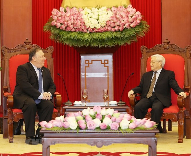 Party chief receives US Secretary of State