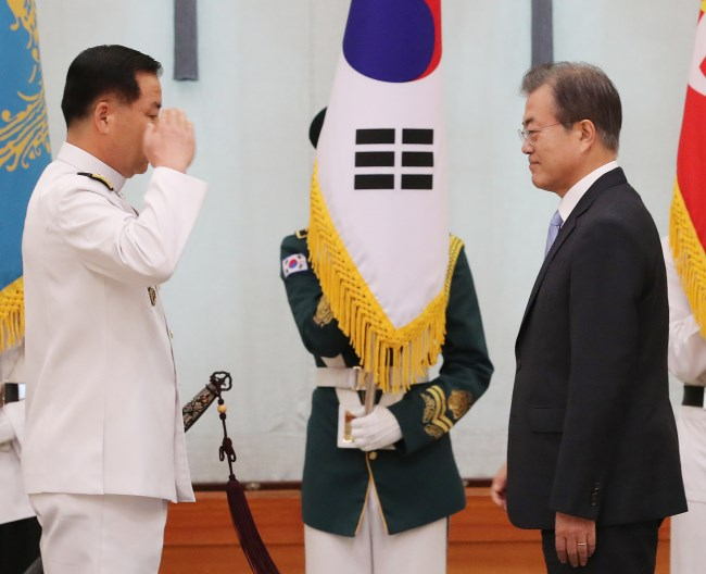 RoK President appoints new Navy Chief
