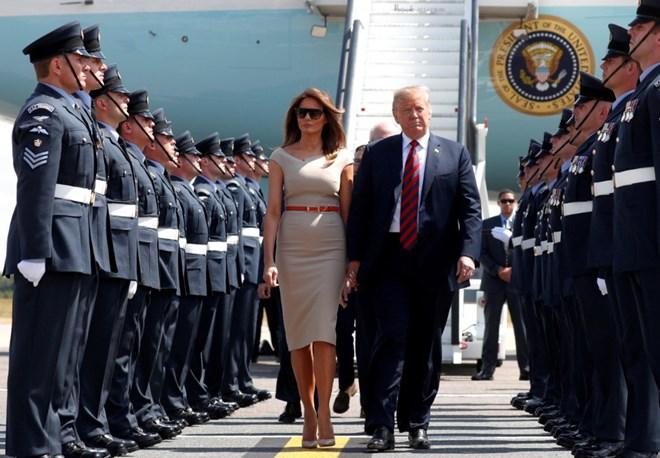 US President Donald Trump visits UK