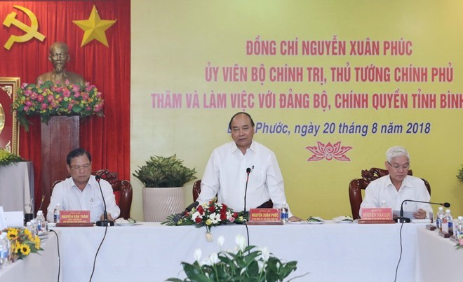 PM lauds Binh Phuoc's efforts to foster economic growth