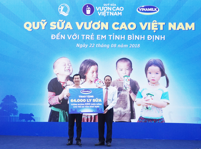Thousands of servings of milk provided for children in Binh Dinh