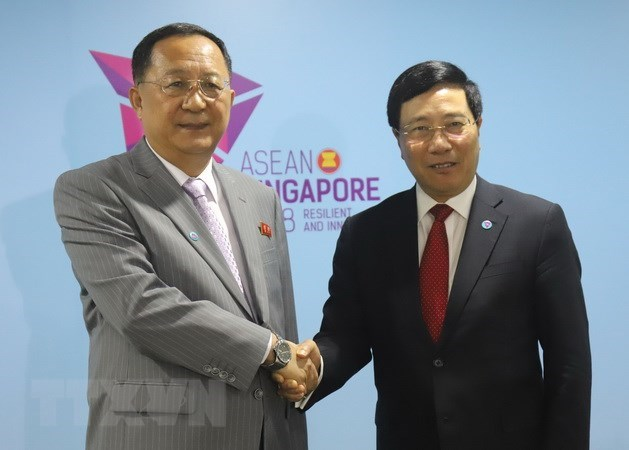 Vietnamese Foreign Minister meets with DPRK counterpart