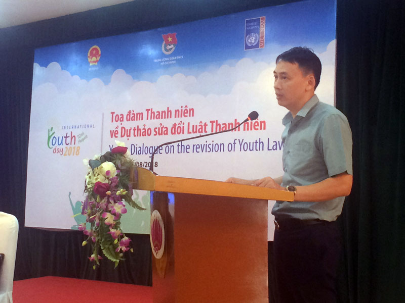 Youth offer policy solutions to the revised Youth Law in commemoration of 2018 International Youth Day