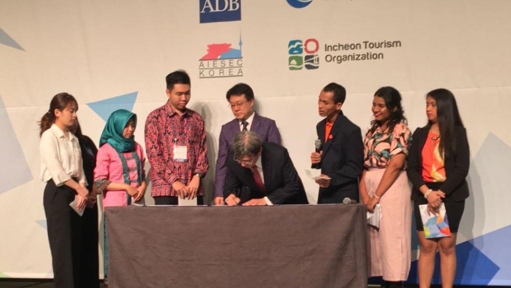 Youth representatives from Asia - Pacific launch Incheon Youth Declaration on the Future of Work