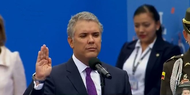 Ivan Duque sworn in as Colombia's next President