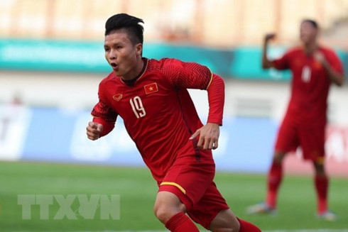 ASIAD 2018: Two Vietnamese footballers listed in typical team of qualifying round