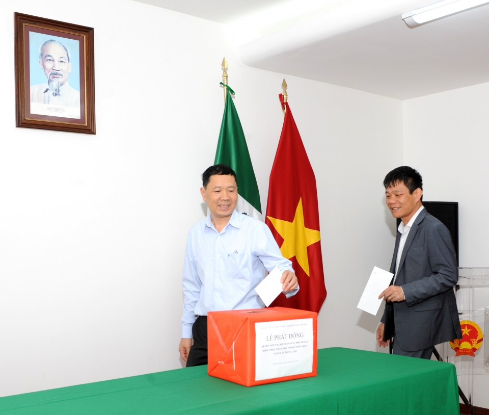 Vietnamese in Mexico support Lao dam collapse victims