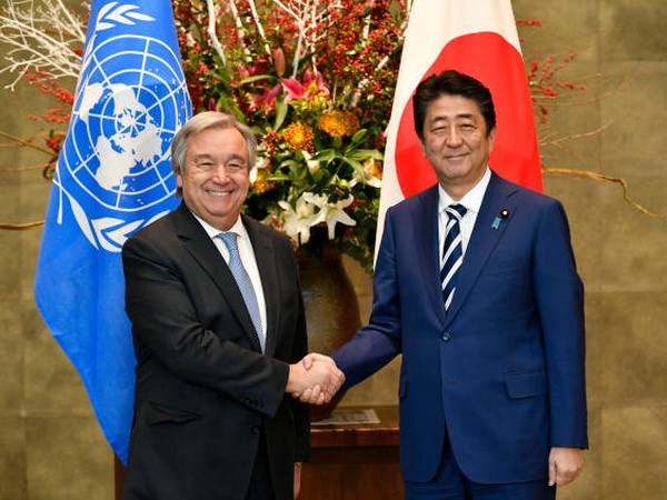 Leaders of UN and Japan discuss DPRK's denuclearization