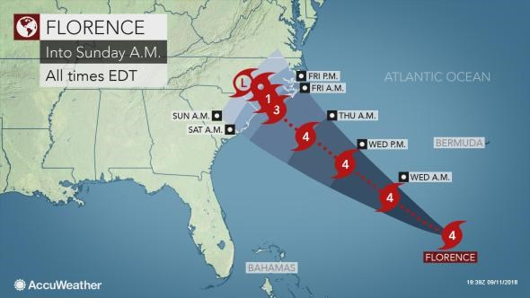 1.5 million people ordered to evacuate due to hurricane Florence