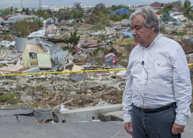 UN, WB leaders visit quake-hit Indonesian city