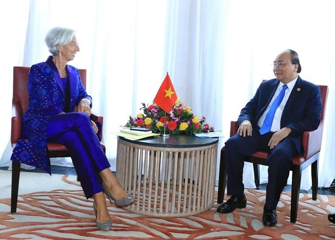 PM Nguyen Xuan Phuc meets IMF Managing Director in Bali
