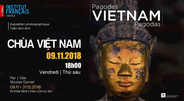 Photos on Vietnam pagodas by Nicolas Cornet to be displayed in Hanoi