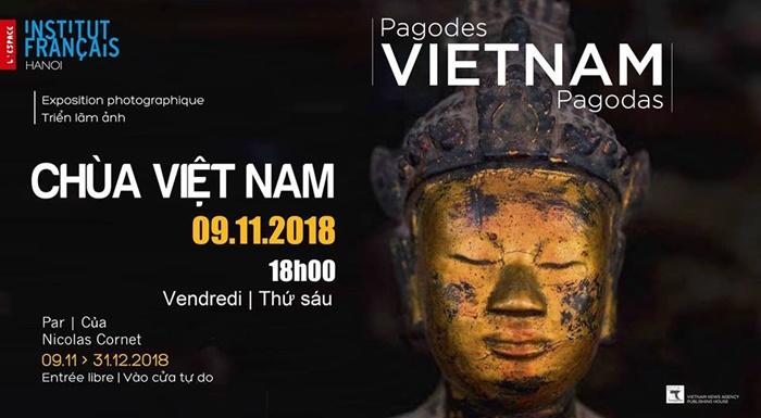 Photos on Vietnam pagodas by Nicolas Cornet to be displayed in Hanoi