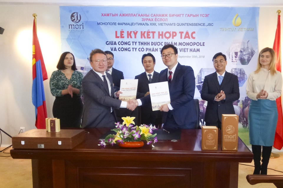 First cooperation between Vietnamese and Mongolian businesses