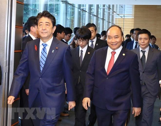 Japanese media covers talks between Vietnamese, Japanese PMs