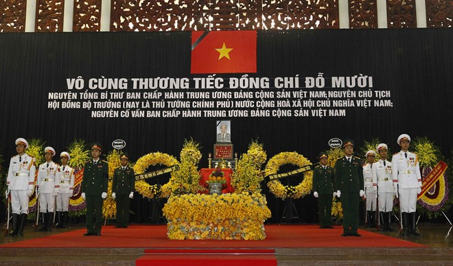 Memorial services for former Party General Secretary Do Muoi held in Hanoi, HCM City
