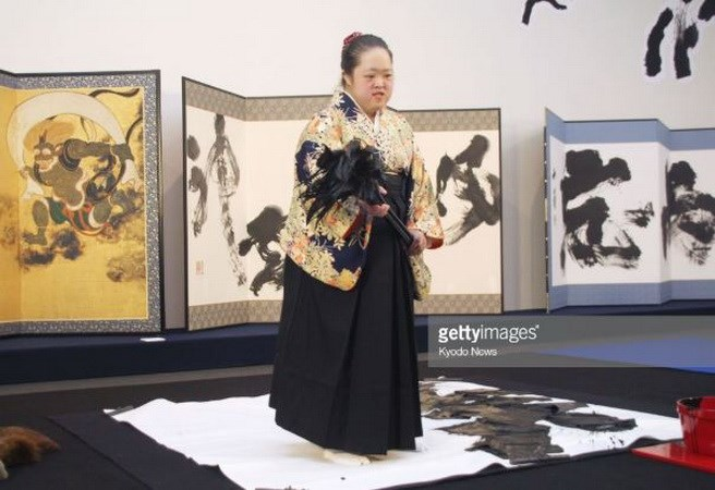World's largest Buddhist sutra calligraphy opens in Japan