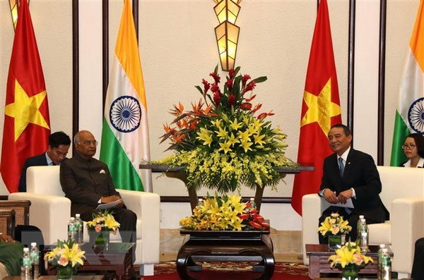 Indian President welcomed in Da Nang