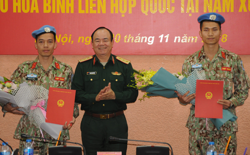Vietnam sends 2 more peacekeeping officers to South Sudan
