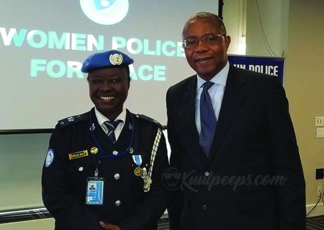 Ghanaian Police officer honoured as Women Police for Peace
