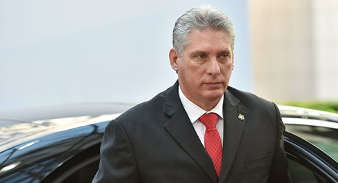 Cuban President Miguel Diaz-Canel visits Russia