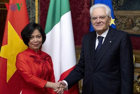 Vietnamese Ambassador presents letter of credence to Italian President