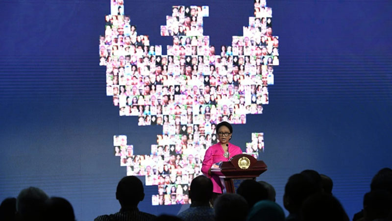Foreign Minister Retno L.P. Marsudi highlights Indonesia's foreign's policy achievements