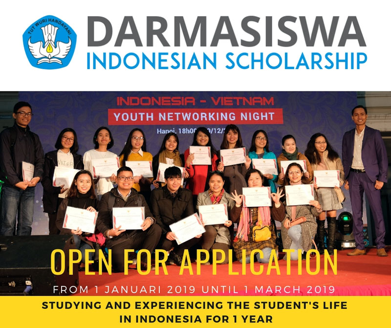 Opportunity to study in Indonesia with Darmasiswa scholarship
